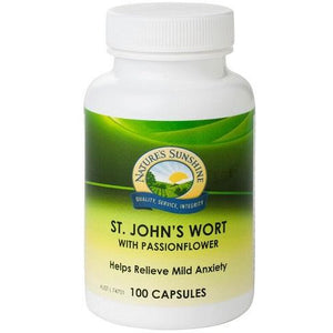 St Johns Wort with Passionflower 100 Capsules by Natures Sunshine