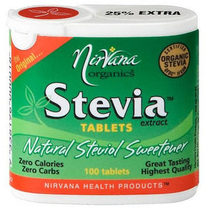 Organic Stevia Extract 100 Tablets by Nirvana Health Products