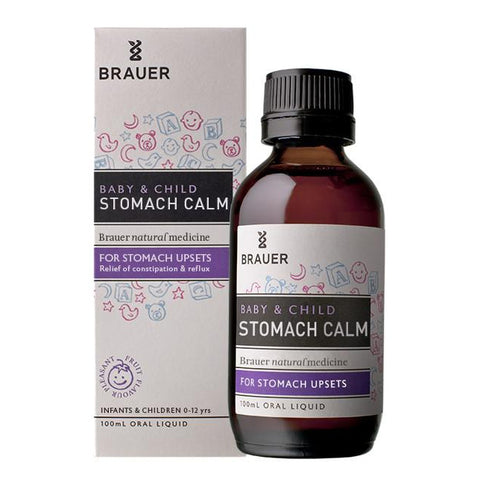 Baby & Child Stomach Calm 100ml Oral Liquid by Brauer Natural Medicines