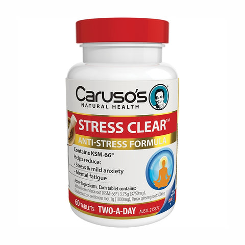 Image of Stress Clear 60 Tablets by Carusos Natural Health
