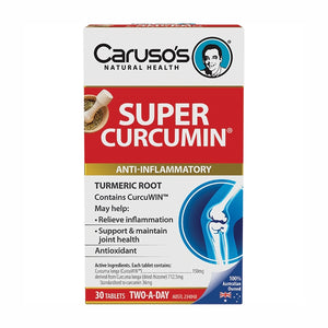 Super Curcumin 30 Tablets by Carusos Natural Health