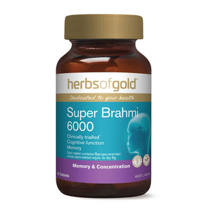 Super Brahmi 6000 60 Tablets by Herbs Of Gold