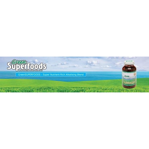 Image of Green Superfoods 250 Vege Capsules by Green Nutritionals (MicrOrganics)