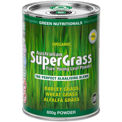 Australian Supergrass Powder 600g eCan by Green Nutritionals (MicrOrganics)