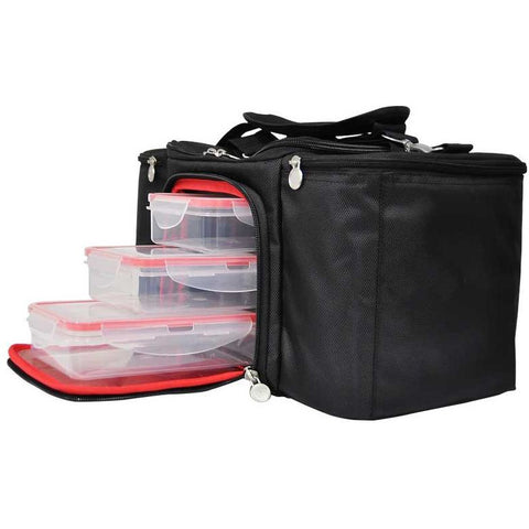 Image of Swole Life Meal Prep Bag Fuel X3 Black