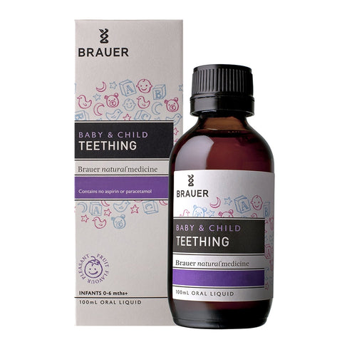 Baby & Child Teething Oral Liquid 100ml by Brauer Natural Medicines