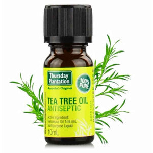 Tea Tree Oil 100% 10ml by Thursday Plantation