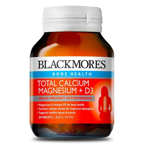 Image of Total Calcium, Magnesium + D3 60 Tablets - Blackmores