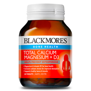 Total Calcium, Magnesium + D3 60 Tablets - Blackmores
