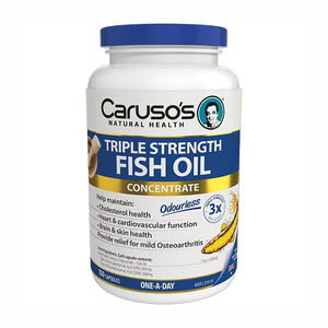 Triple Strength Fish Oil 150 Capsules by Carusos Natural Health