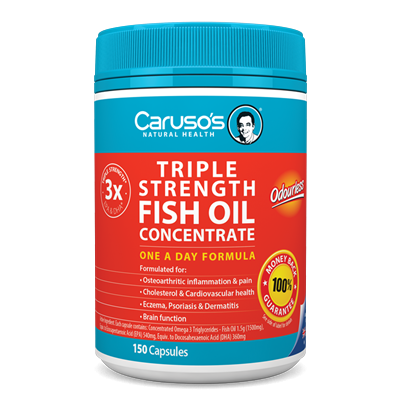 Image of Triple Strength Fish Oil 150 Capsules by Carusos Natural Health
