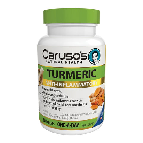 Carusos Natural Health Turmeric 50 Tablets