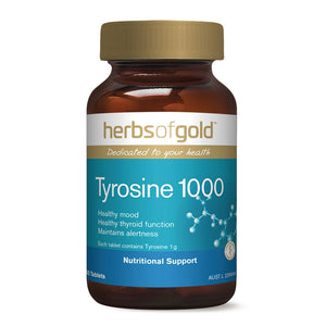 Tyrosine 1000 Tablets by Herbs of Gold