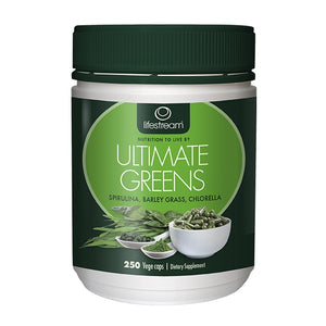 Ultimate Greens 250 Vegetarian Capsules by Lifestream