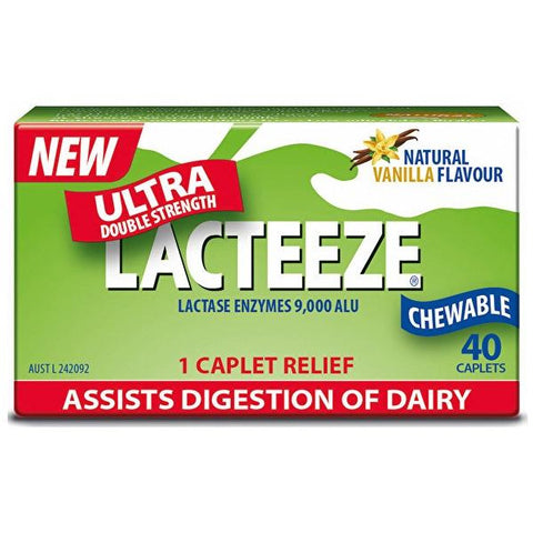 Lacteeze Ultra Double Strength Chewable 40 Caplets