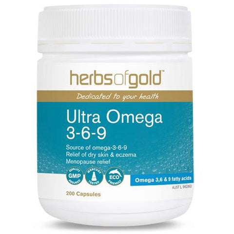 Image of Ultra Omega 369 200 Capsules by Herbs Of Gold