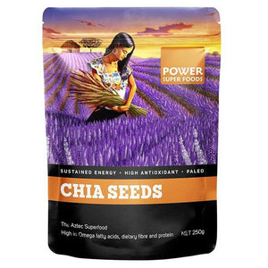 Chia Seeds (Black) Organic 200g by Power Super Foods