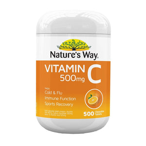 Vitamin C 500mg 500 Chewable Tablets by Natures Way