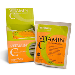 Vitamin C Calcium Ascorbate Powder Box (8 x 125g) by Melrose