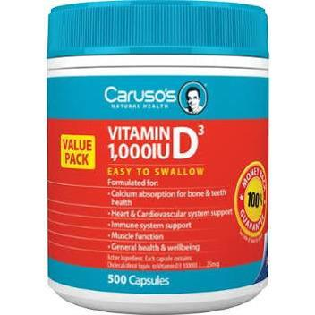 Vitamin D3 1000 by Carusos Natural Health
