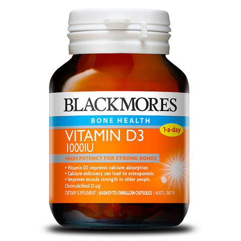 Image of Vitamin D3 1000iu 60 Capsules by Blackmores