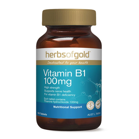 Vitamin B1 100mg by Herbs Of Gold