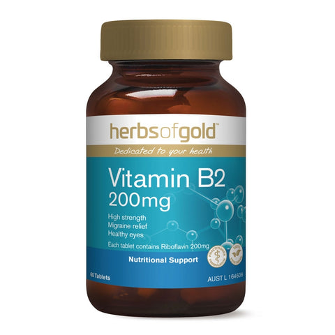 Image of Vitamin B2 200mg by Herbs of Gold