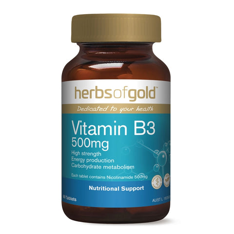 Image of Vitamin B3 500mg by Herbs of Gold