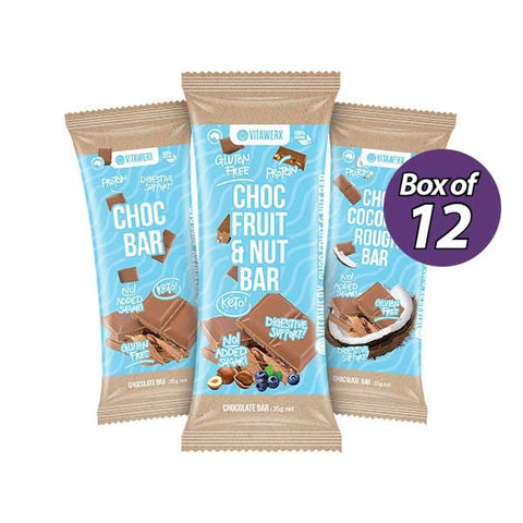 Image of Chocolate Bar by Vitawerx - High Protein Keto Bar BOX