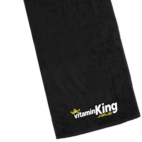 Vitamin King Towel Black