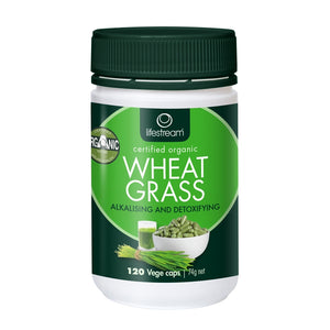 Wheat Grass 120 Vegetarian Capsules by Lifestream