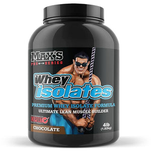 Whey Isolate 1.82kg (4lb) by Maxs
