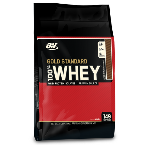 100% Whey Gold Standard 10lbs (4.5kg) by Optimum Nutrition