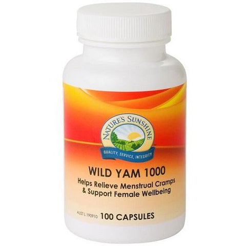 Wild Yam 1000 100 Capsules by Natures Sunshine