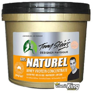 Whey Protein Concentrate 3kg Natural (Unflavoured) by Tony Sfeirs Designer Physique