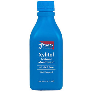 Xylitol Natural Mouthwash 500ml by Grants of Australia