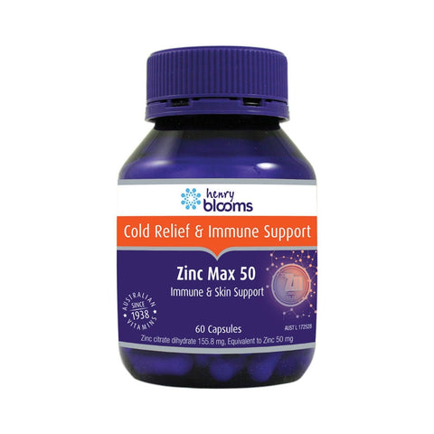 Zinc Max 50mg 60 Capsules by Blooms