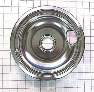 "WPW10196405 Whirlpool Stove Drip Bowl - 8"" Chrome"