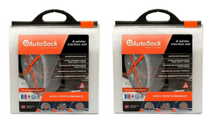 Autosock AS685-2 Traction Wheel and Tire Cover For Ice & Snow Easy Install