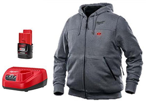 Milwaukee 301G-212X Hoodie Kit,2XL,Gray,48 in. Chest Size G4607219