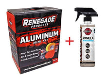Load image into Gallery viewer, Renegade MK-ALum+Hawaii Breeze X2  Aluminum Polishing Complete Mini Kit with Buffing Wheels, Buffing Compounds, Safety Flange, and Rebel Pro Red Polish (Hawaii Breeze, 2) (Kit)