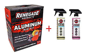 Renegade MK-Alum+Cherry+Pina Colada   Aluminum Polishing Complete Mini Kit with Buffing Wheels, Buffing Compounds, Safety Flange, and Rebel Pro Red Polish (Cherry/Pina Colada, 1) (Kit)