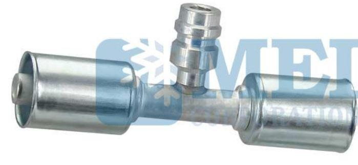 MEI Airsource 4579 Crimp A/C, #8 Inline Fitting