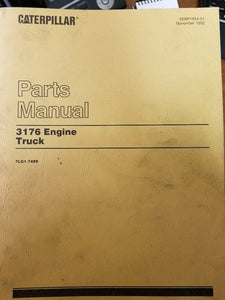 Caterpillar 3176 Truck Engine Parts Manual Pre-Owned 7LG1-7499 Engines