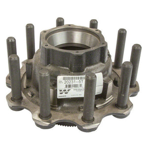 Webb Wheel 20231-5T Trailer Hub Assembly with ABS Ring and Long Studs