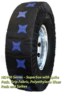 Peerless S100 SuperSox with Spike Traction Winter Tire Socks Chain Replacement