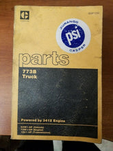 Load image into Gallery viewer, Caterpillar 773B 3412 Truck Engine Parts Manual Pre-Owned 63W1- 73W1- 1ZA1-Up