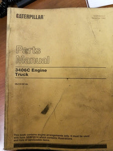 Caterpillar 3406C Truck Engine Parts Manual Pre-Owned 3ZJ16182-Up Engines