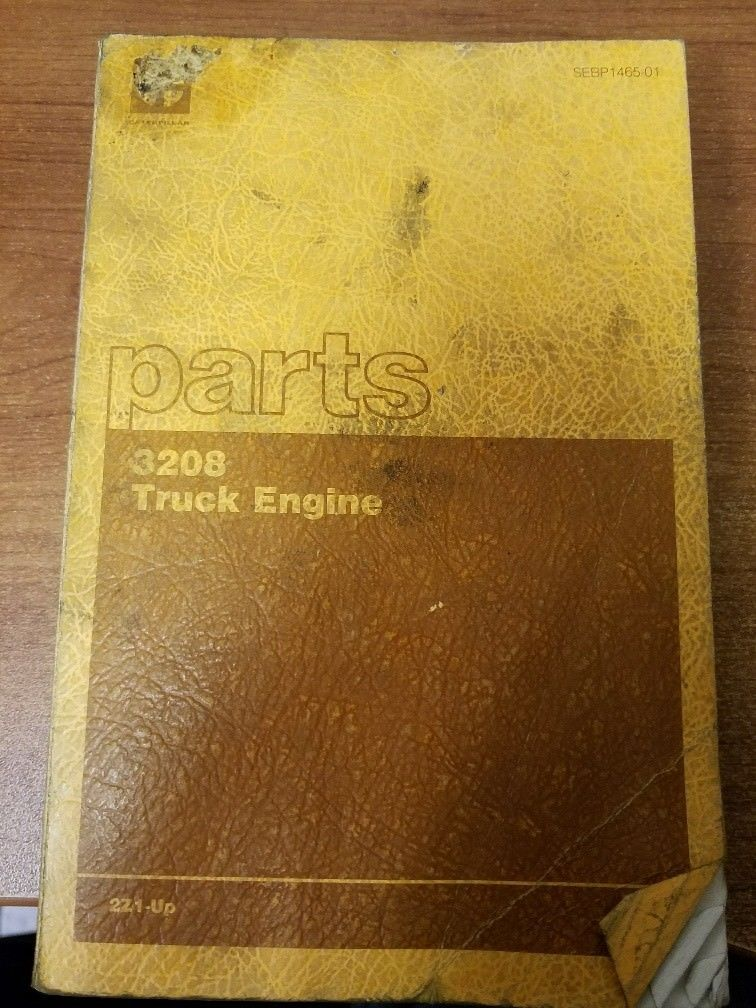 Caterpillar 3208 Truck Engine Parts Manual Pre-Owned 2Z1 Engines