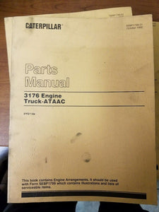 Caterpillar 3176 Truck Engine Parts Manual Pre-Owned 2YG1-Up Engines